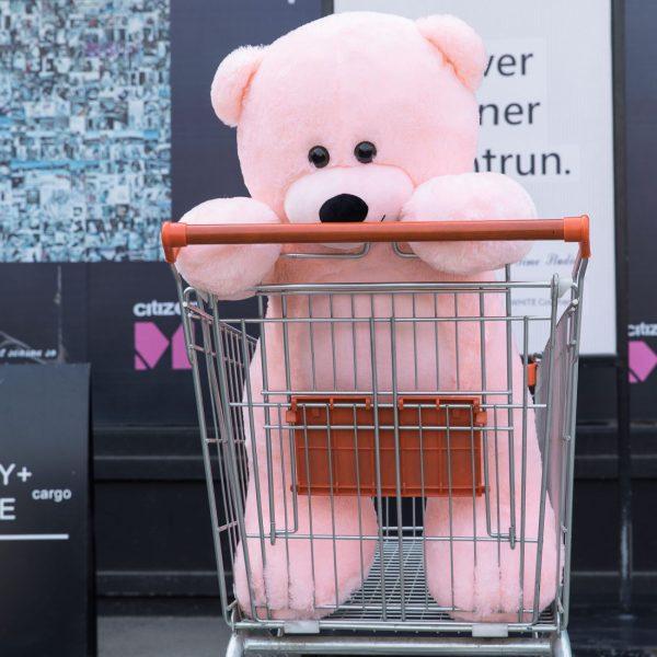 Daney teddy bear 3foot pink 022