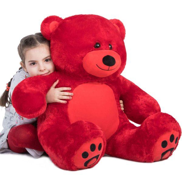 Daney teddy bear 3foot red 001