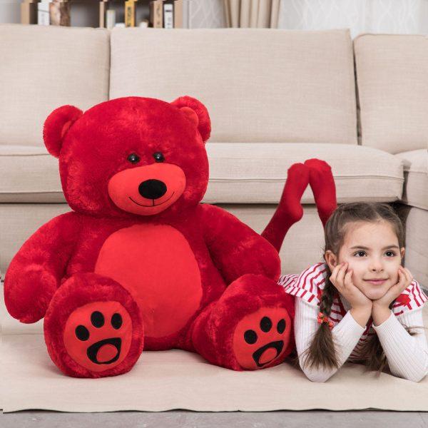 Daney teddy bear 3foot red 002