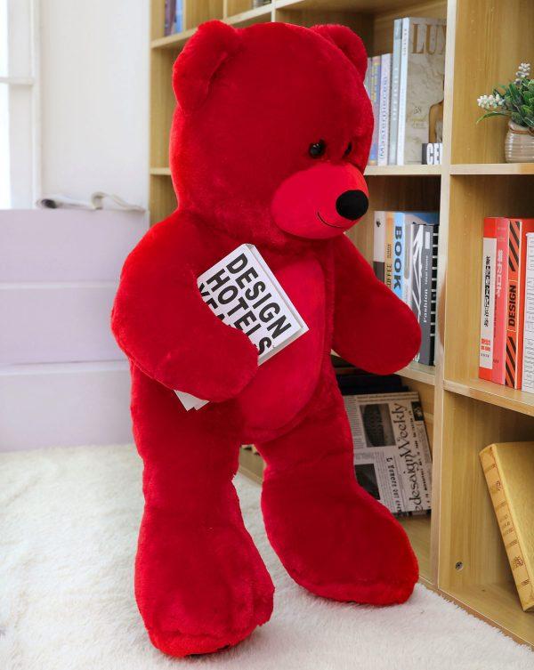 Daney teddy bear 3foot red 003