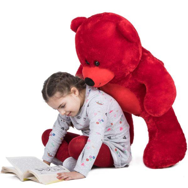 Daney teddy bear 3foot red 004