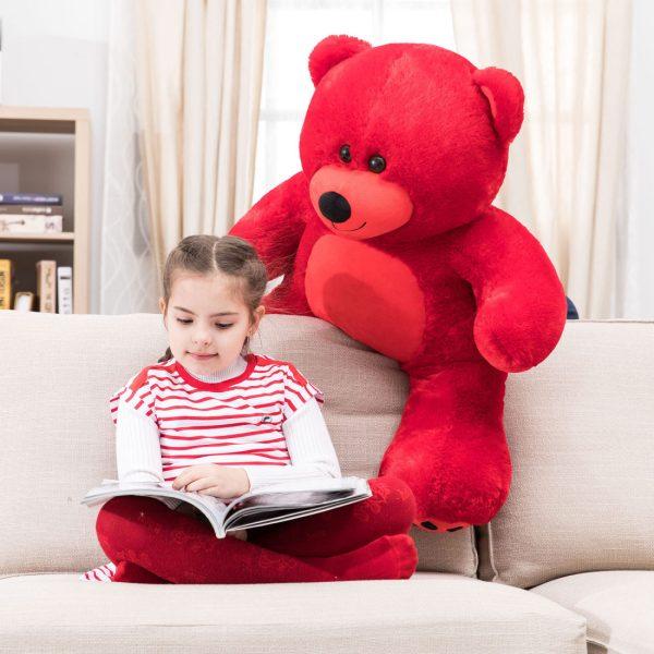Daney teddy bear 3foot red 006