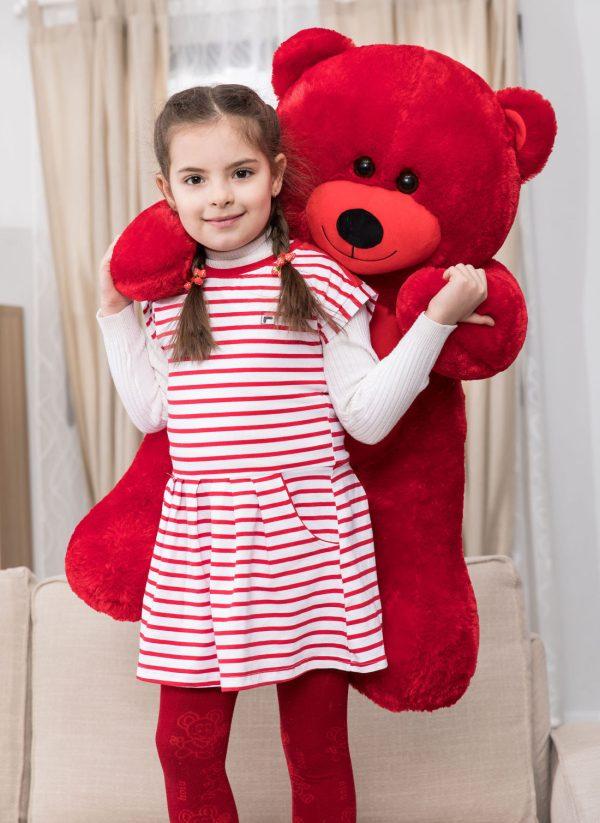 Daney teddy bear 3foot red 007