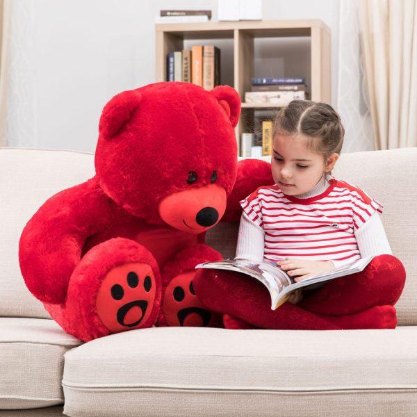 Daney teddy bear 3foot red 024