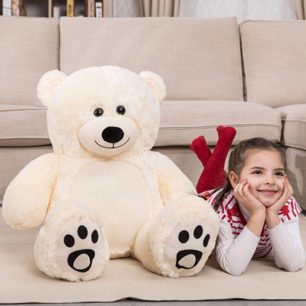 Daney teddy bear 3foot white 001