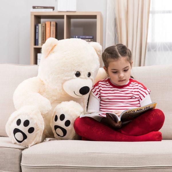 Daney teddy bear 3foot white 002
