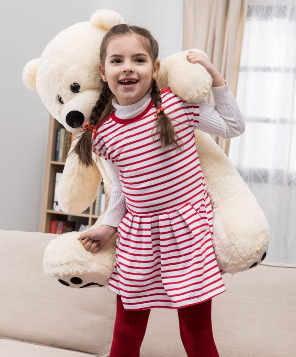 Daney teddy bear 3foot white 003