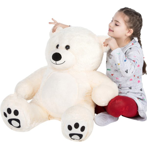 Daney teddy bear 3foot white 007