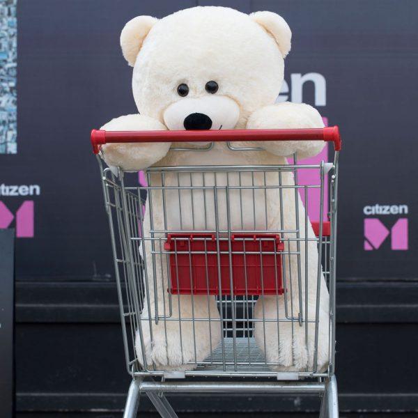 Daney teddy bear 3foot white 009