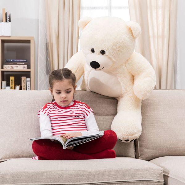 Daney teddy bear 3foot white 010
