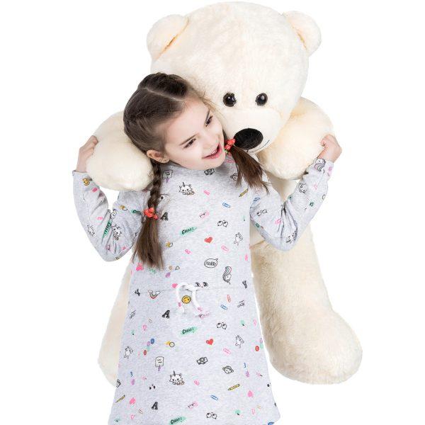 Daney teddy bear 3foot white 029