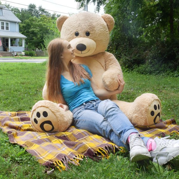 Daney teddy bear 6foot light brown 001