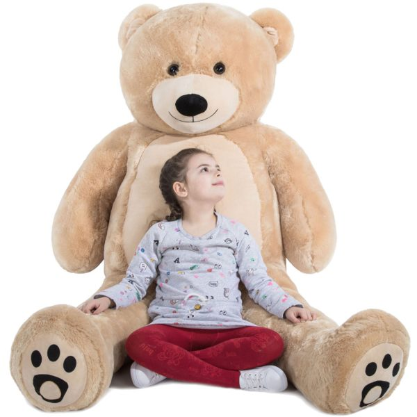 Daney teddy bear 6foot light brown 002
