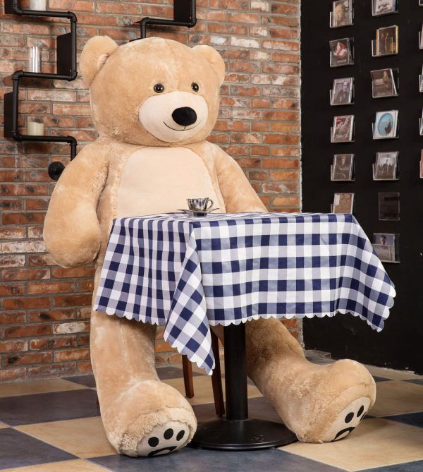 Daney teddy bear 6foot light brown 003