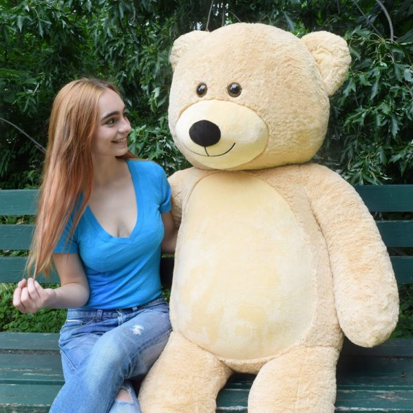 Daney teddy bear 6foot light brown 004