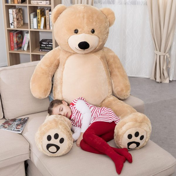 Daney teddy bear 6foot light brown 006