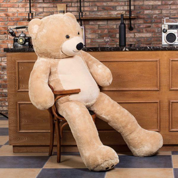Daney teddy bear 6foot light brown 007