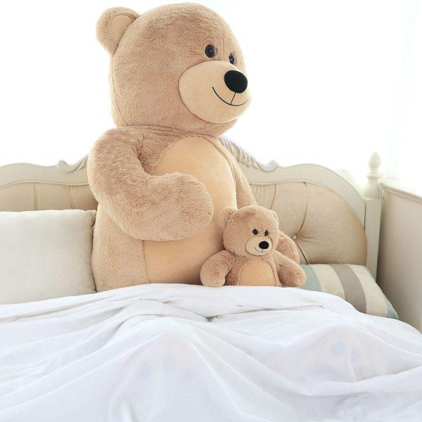 Daney teddy bear 6foot light brown 010