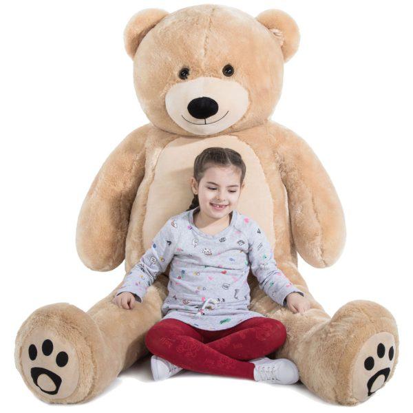 Daney teddy bear 6foot light brown 017