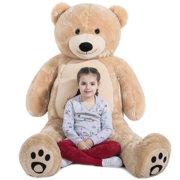 Daney teddy bear 6foot light brown 018