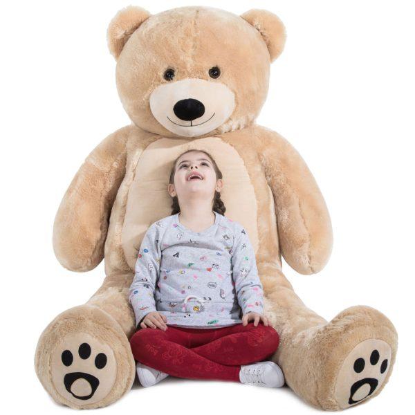 Daney teddy bear 6foot light brown 020