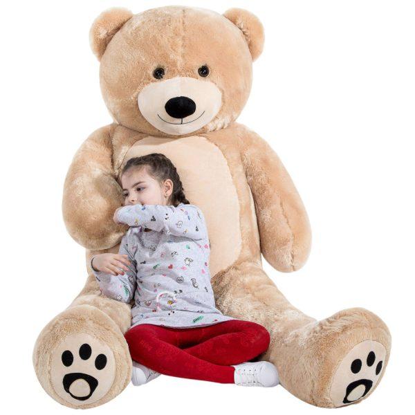 Daney teddy bear 6foot light brown 022