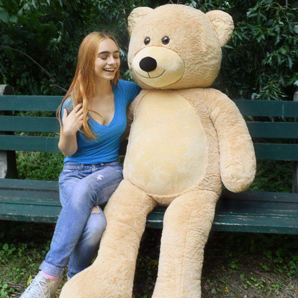 Daney teddy bear 6foot light brown 025