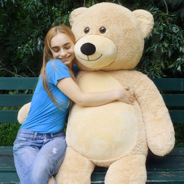Daney teddy bear 6foot light brown 026