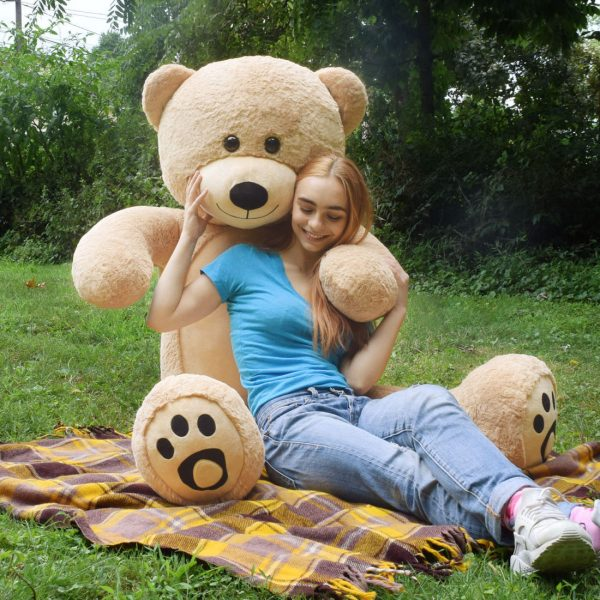 Daney teddy bear 6foot light brown 029