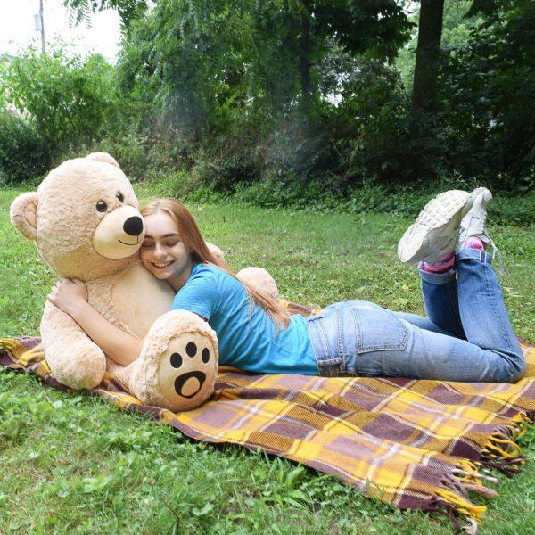 Daney teddy bear 6foot light brown 030