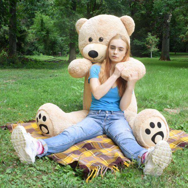 Daney teddy bear 6foot light brown 031