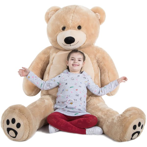 Daney teddy bear 6foot light brown 032