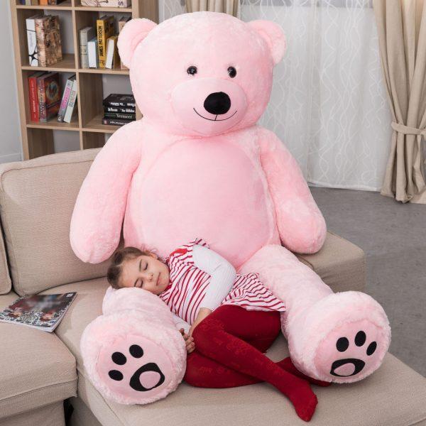 Daney teddy bear 6foot pink 001