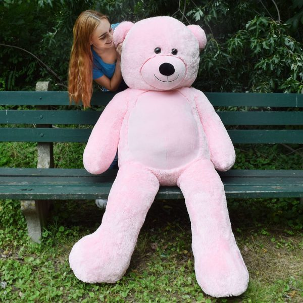 Daney teddy bear 6foot pink 003