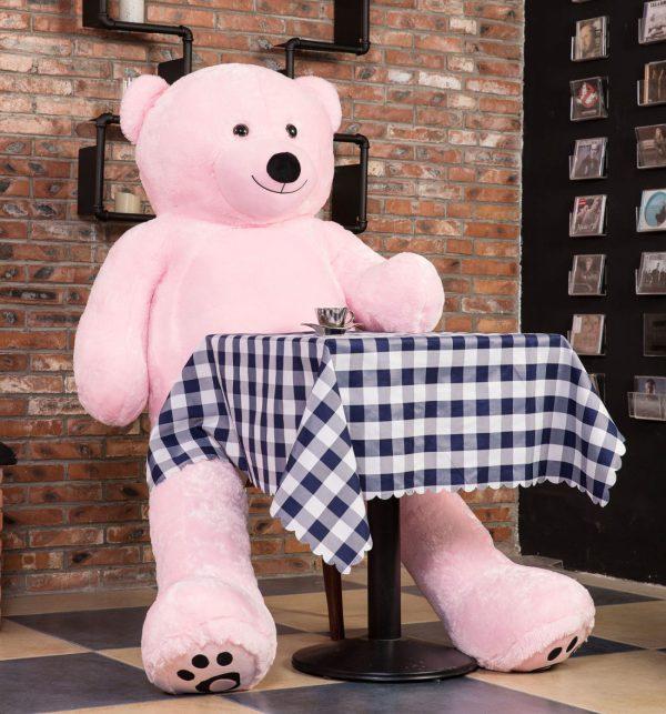 Daney teddy bear 6foot pink 004