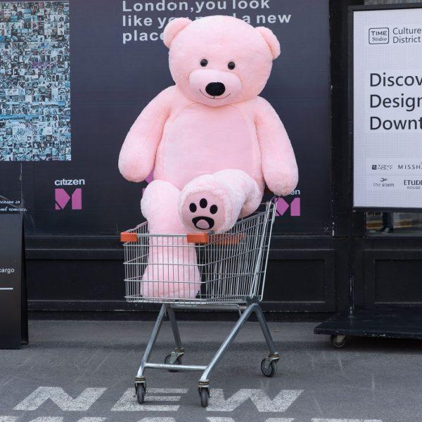 Daney teddy bear 6foot pink 012