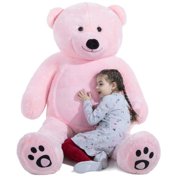 Daney teddy bear 6foot pink 021