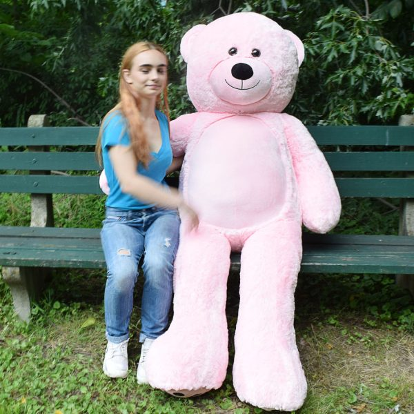 Daney teddy bear 6foot pink 029