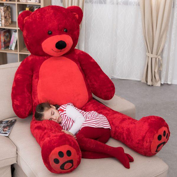 Daney teddy bear 6foot red 001