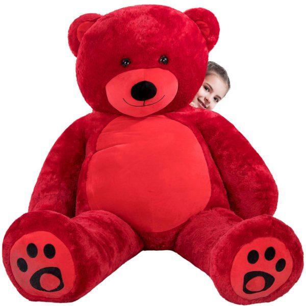 Daney teddy bear 6foot red 002
