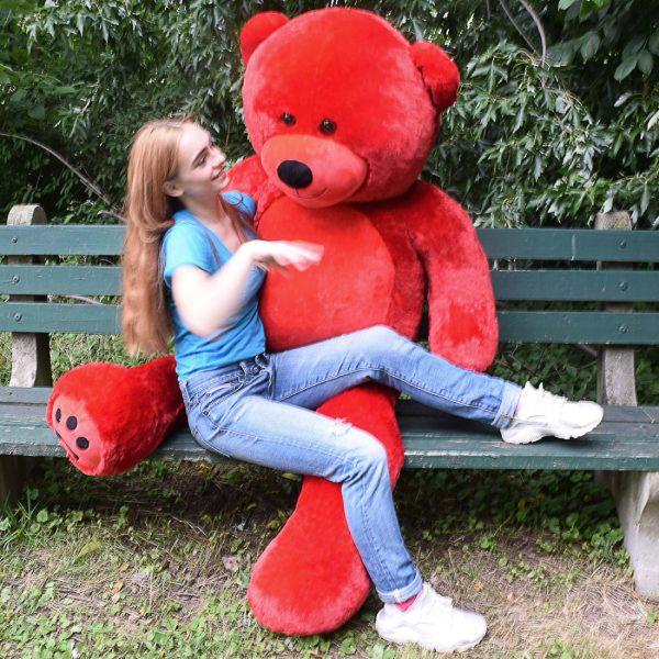 Daney teddy bear 6foot red 003