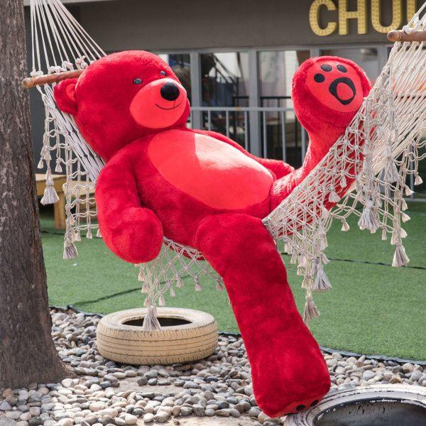 Daney teddy bear 6foot red 004