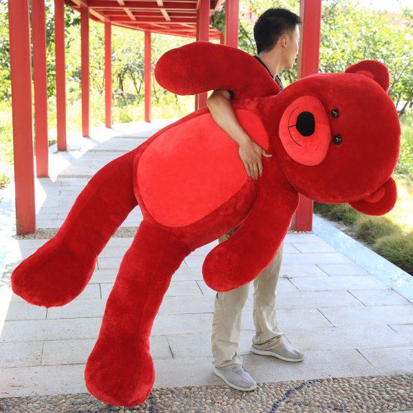 Daney teddy bear 6foot red 005