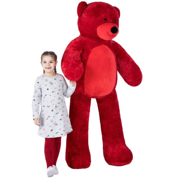Daney teddy bear 6foot red 007