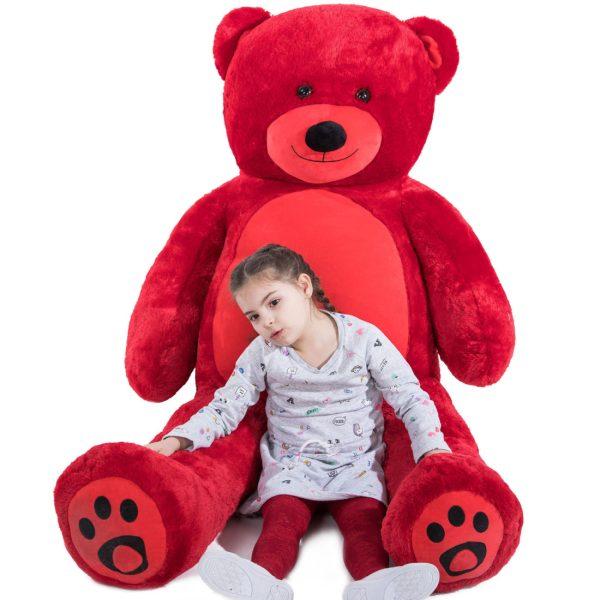 Daney teddy bear 6foot red 008