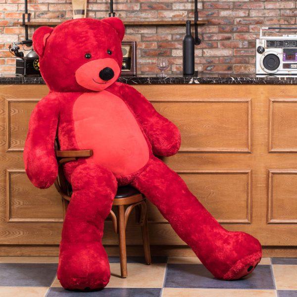 Daney teddy bear 6foot red 010