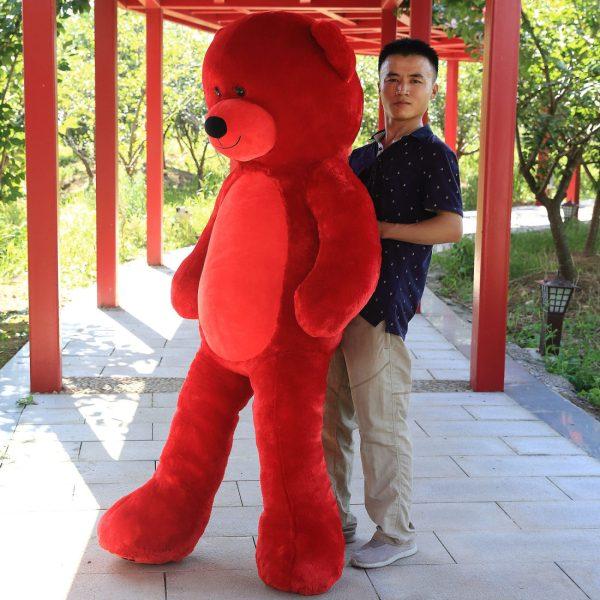 Daney teddy bear 6foot red 011