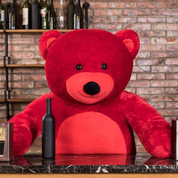 Daney teddy bear 6foot red 012