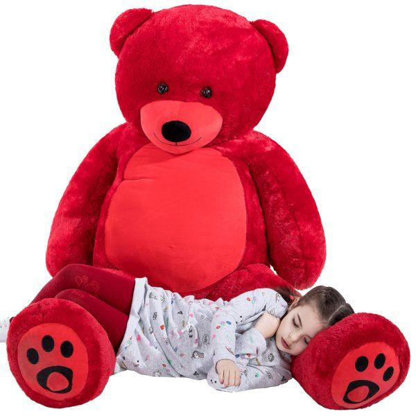 Daney teddy bear 6foot red 013