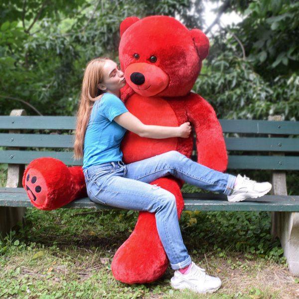 Daney teddy bear 6foot red 020